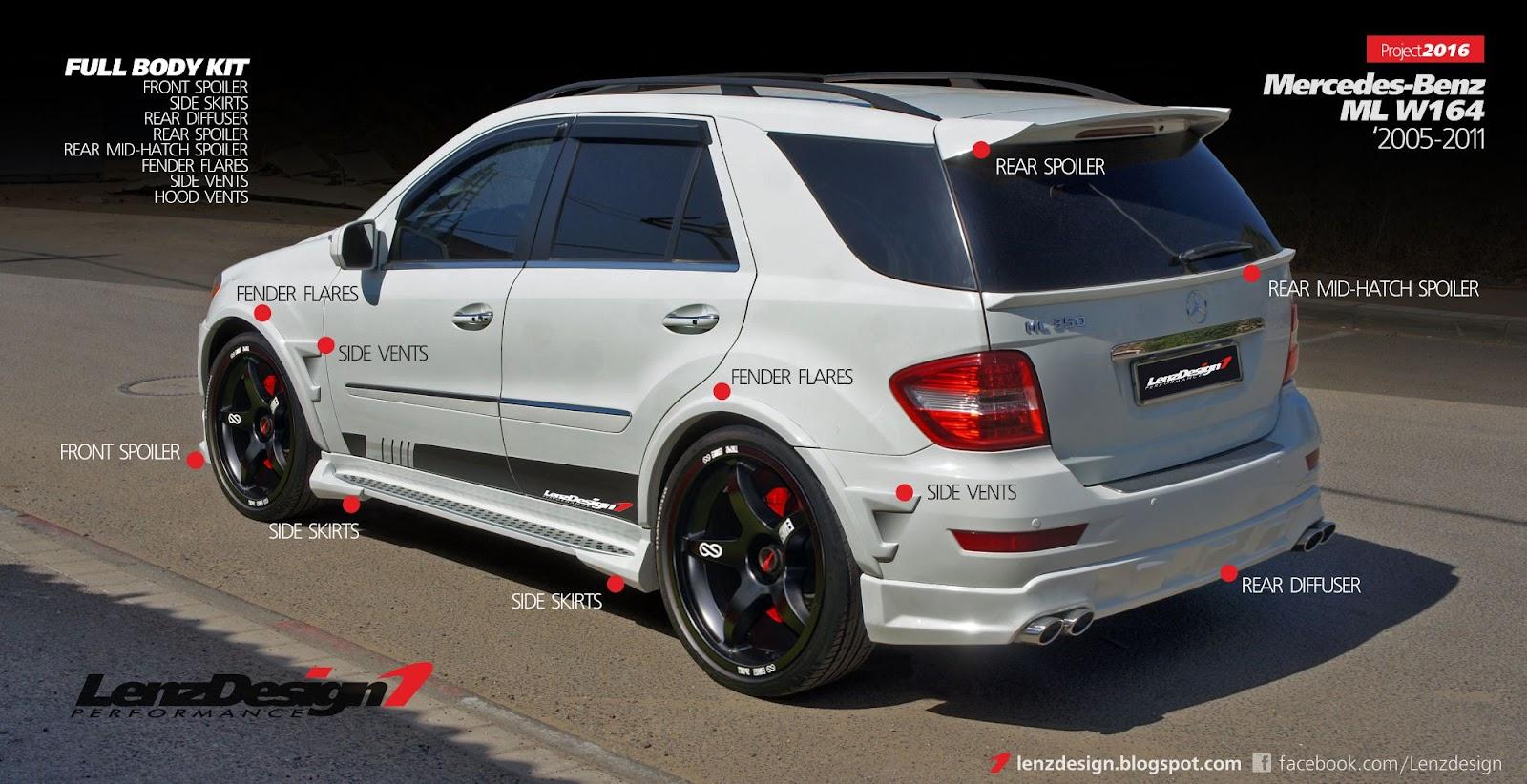 Mercedes Benz Ml W164 Lenzdesign Bodykit Amp Spoilers