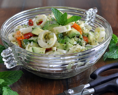 Day 105: Avocado Salad with Hearts of Palm ♥
