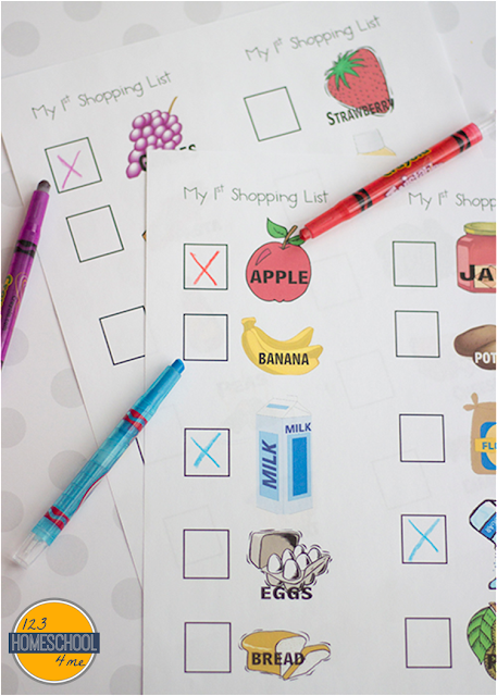 FREE Grocery Store Scavenger Hunt - Free worksheets and kids activities for the whole family to learn at the grocery store! Perfect for toddler, preschool, kindergarten, homeschool, fieldtrip, and more!