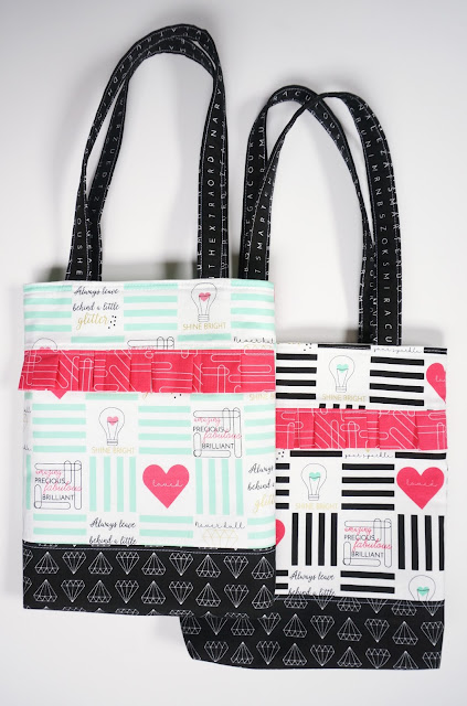 Shine Bright fabric totes