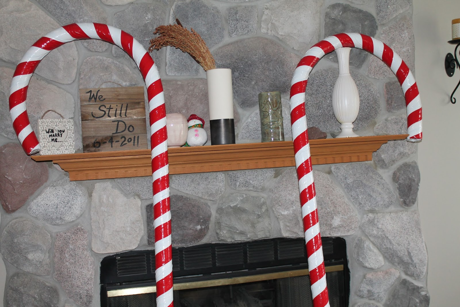 How To Make Giant Candy Cane Decorations Simple Suburban
