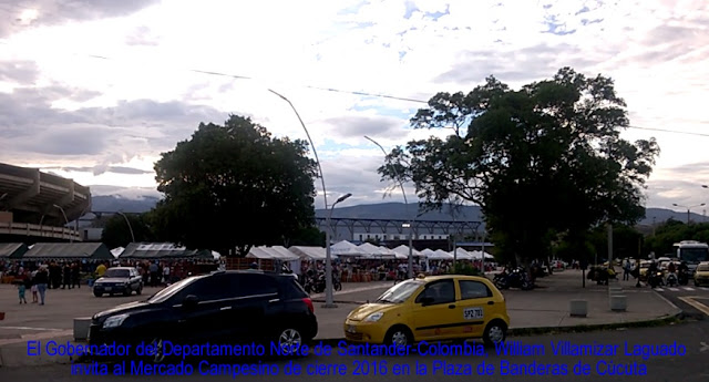 Gob-NdeS William Villamizar Laguado invita al Mercado Campesino de cierre 2016 en Plaza Banderas de Cúcuta #RSY #OngCF
