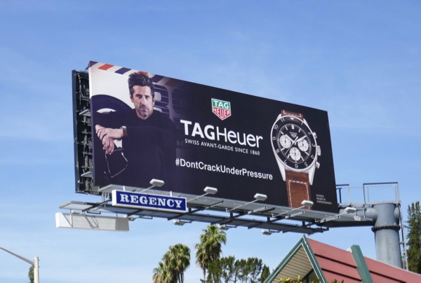 Patrick Dempsey Tag Heuer watch billboard