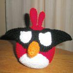 pajaro rojo angry bird amigurumi, red bird angry bird amigurumi
