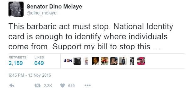 "Dino Melaye cries out over ""barbaric"" Yoruba facial marks on little baby"