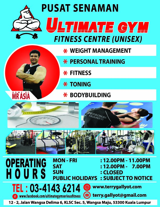 WAY OF LIFE!: Ultimate Gym - serious fitness ~ flyers.