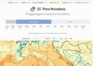 temperature e previsioni