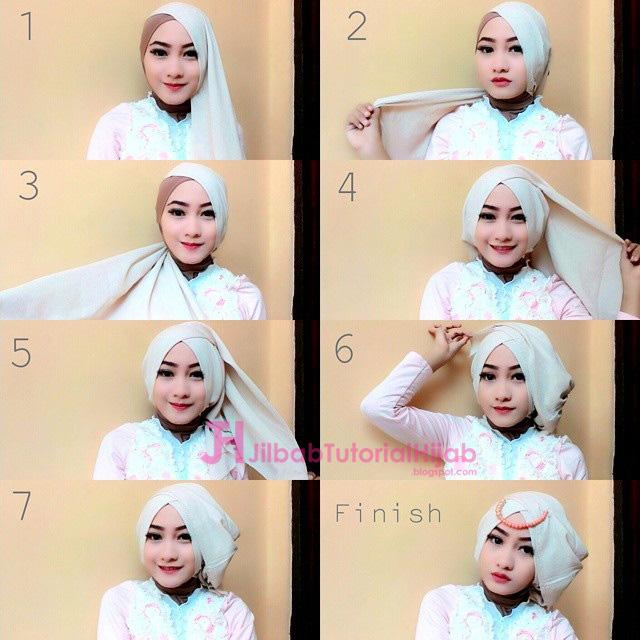bagi yang masih galau dengan style hijab apa yang akan digunakan ketika lebaran idul fitri  4 Tutorial Hijab Segi Empat Untuk Idulfitri Idul Fitri
