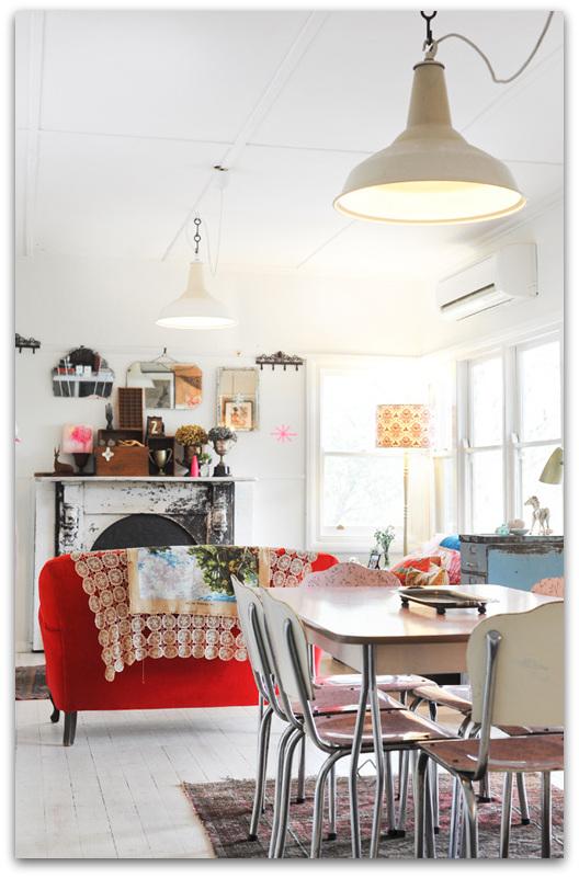 shabby chic interior design in an australian house. Black Bedroom Furniture Sets. Home Design Ideas