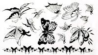 diseños para tatuajes de mariposas