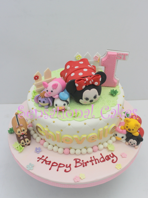 The Sensational Cakes Sweet Tsum Tsum Theme 3d Customized