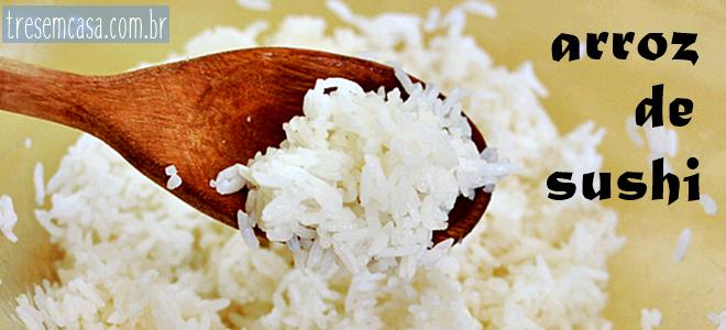 receita de arroz para sushi