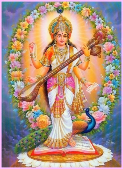Hindu Goddess Saraswati Photos Free Download