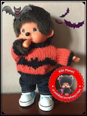 Pull chauve-souris pour Kiki ou Monchichi - vêtement - tricot - tricotage - handmade