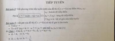 Chuyên đề phương trình tiếp truyến của hàm số luyện thi đại học