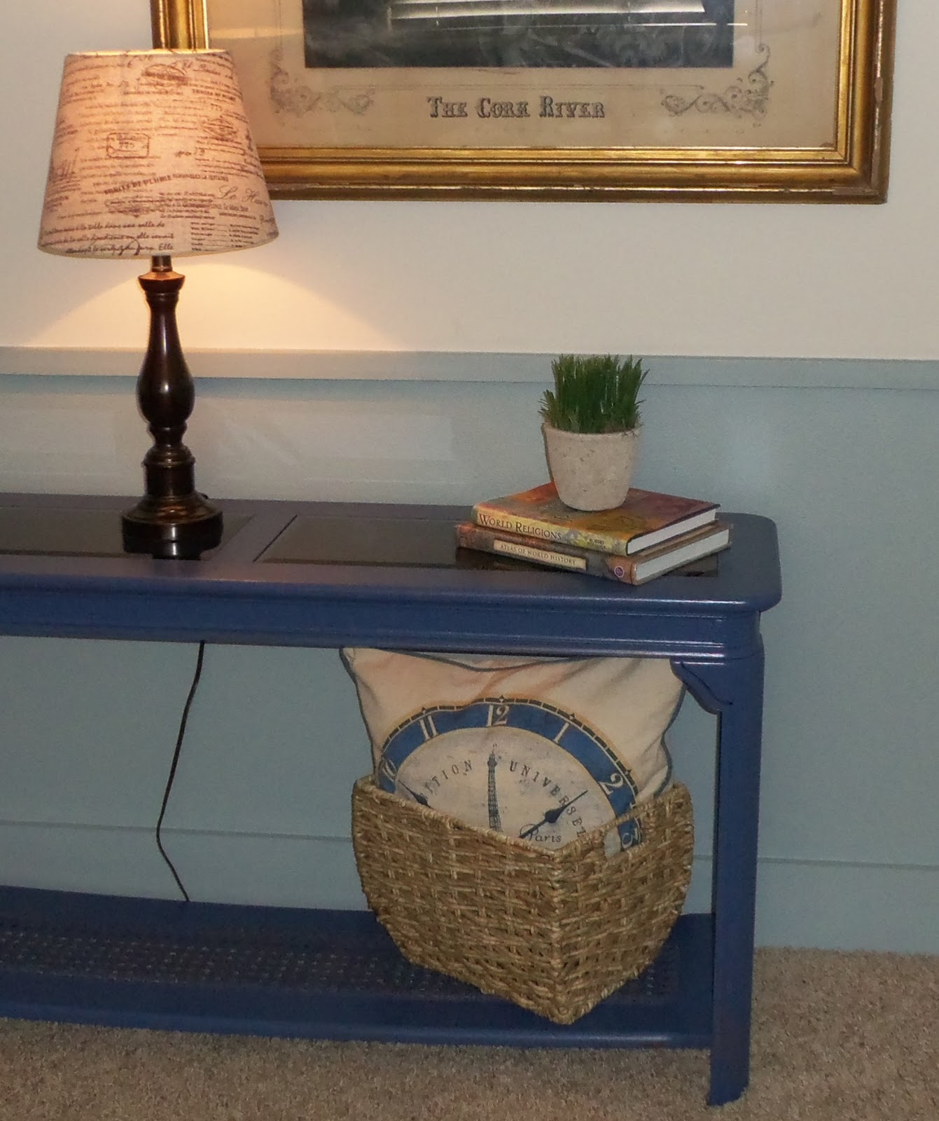 Kiki Nakita Royal Blue Sofa Console Table
