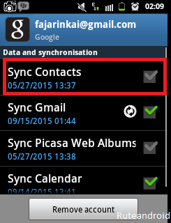 Sync contacts Backup contacts