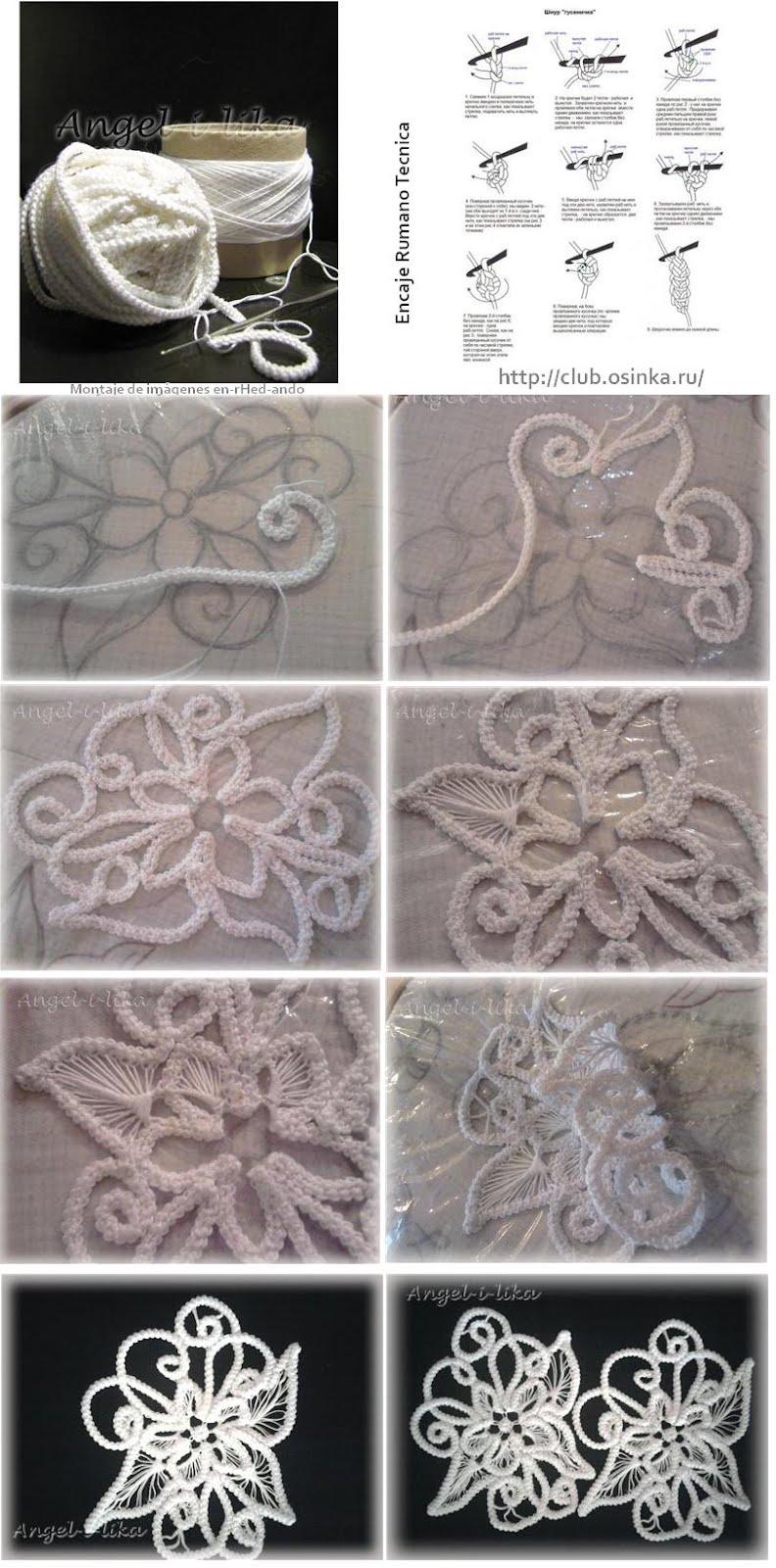 encaje irlandes, labores, bordados, crochet, cordoncillo