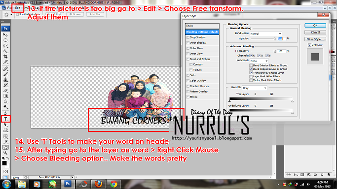 Transparent Header/Images with Photoshop CS3 6