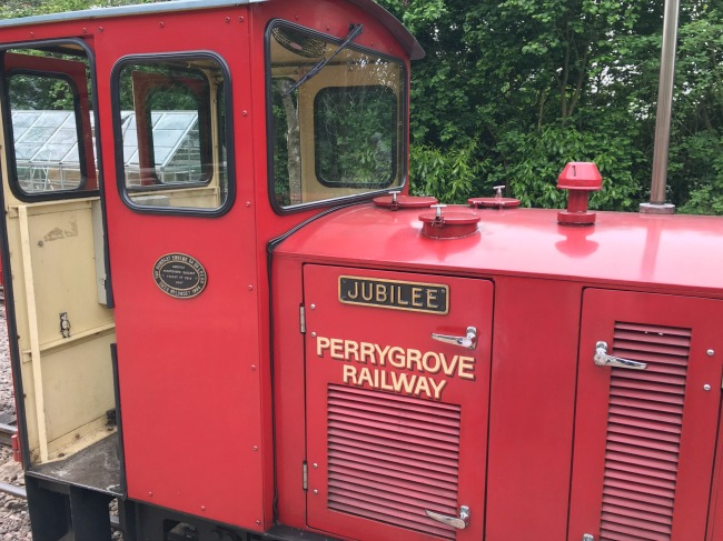 red-train-engine-with-Jubilee-Perrygrove-Railway-written-on-the-side