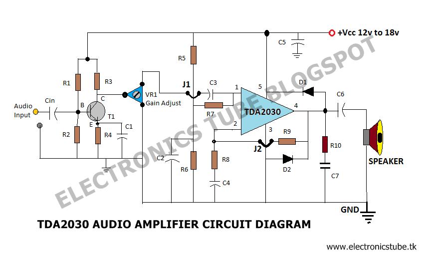 TDA 2030 audio Amplifier 20 Watt with Voltage divider