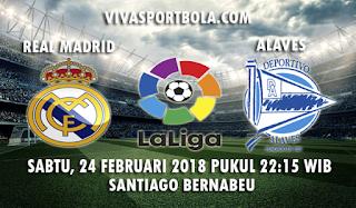 Prediksi Real Madrid vs Alaves 24 Februari 2018