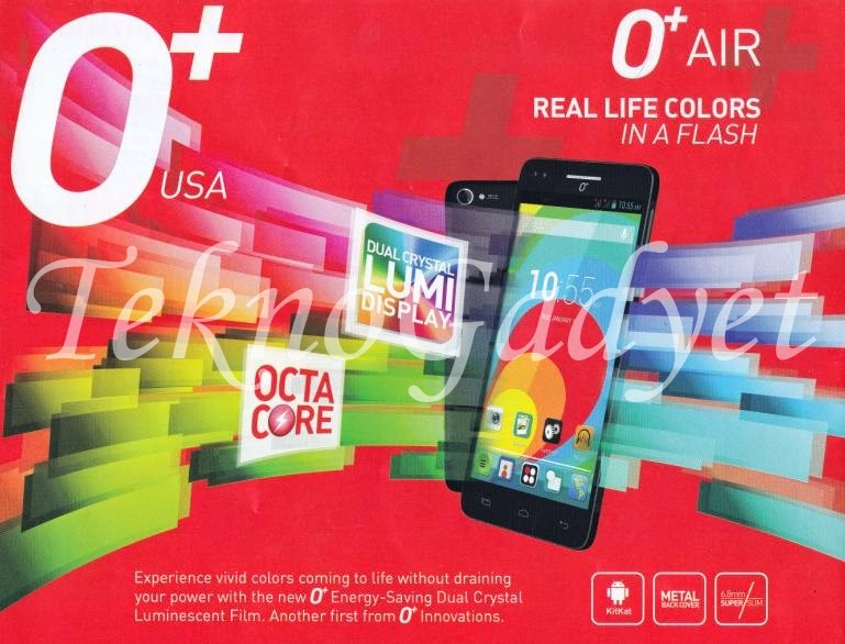 O+ USA Air, 5-inch HD Android KitKat Octa Core For Php15,995
