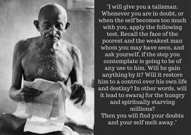 Mahatma Gandhi ON TAKING DECISIONS