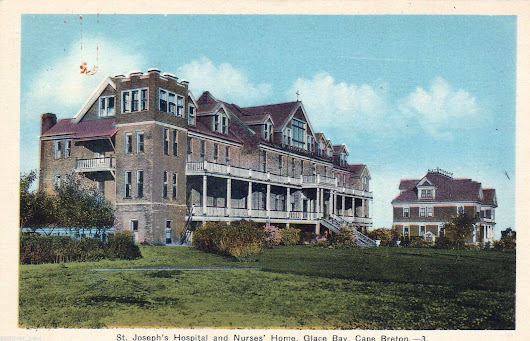Glace Bay Nova Scotia-St Joseph's Hospital and Nurses Residence 1930