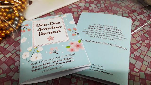 doorgift buku custom made design