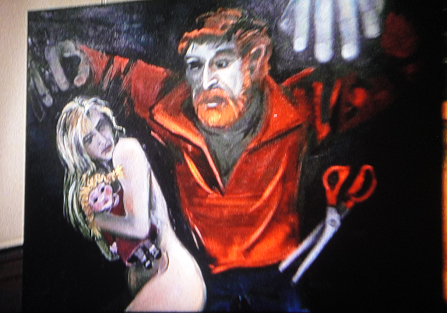 Cole's painting of Angie's anxieties in SCISSORS (1991)