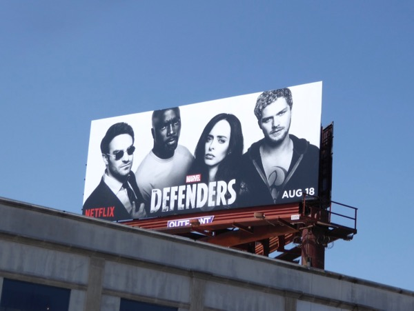 Defenders series billboard