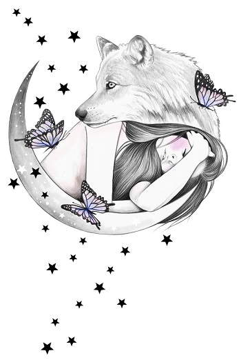 """Over the Moon"" by Andrea Hrnjak 