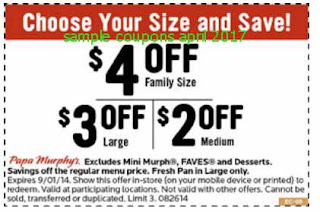 Papa Murphys coupons for april 2017