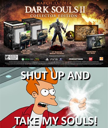 The Huh?: Dark Souls 2: Collector's Edition Meme: Shut Up
