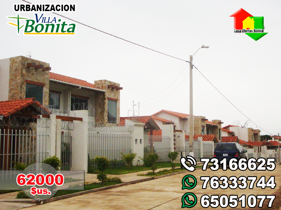 Casa Ofertas Bolivia Urbanizacion Villa Bonita Urubo