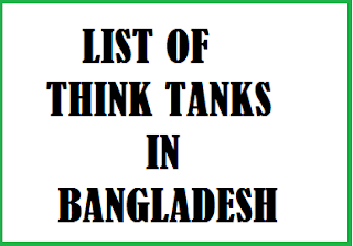 list of Think tanks in bangladesh