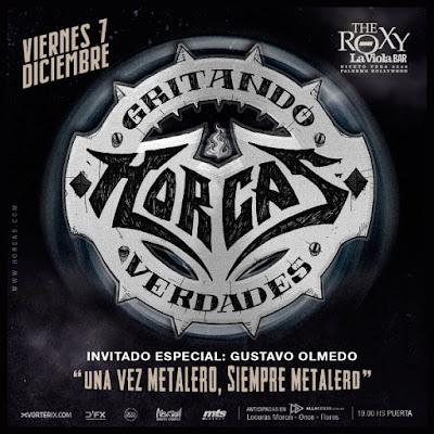 HORCAS CIERRA EL AÑO EN THE ROXY LIVE! VIERNES 7 DE DICIEMBRE / 21 HS.