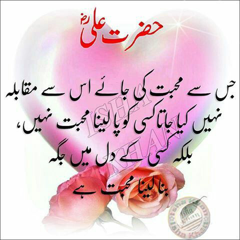 Hazrat Ali saying