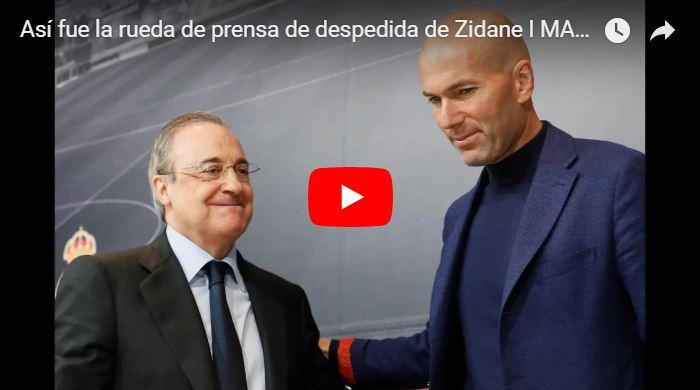Zidane renunció al Real Madrid de manera inesperada