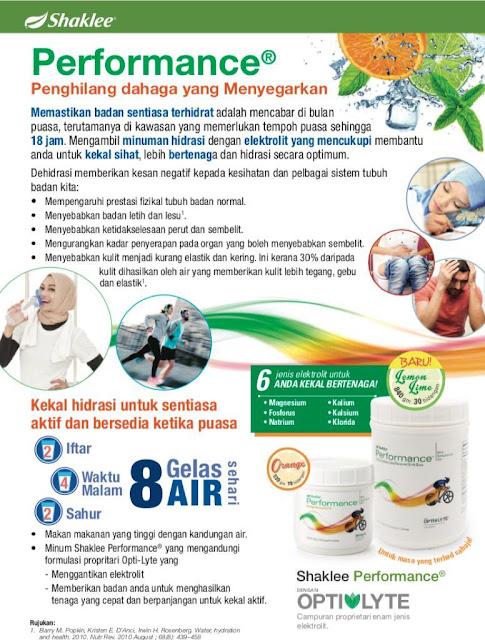 Performance drink Shaklee Kuala Terengganu