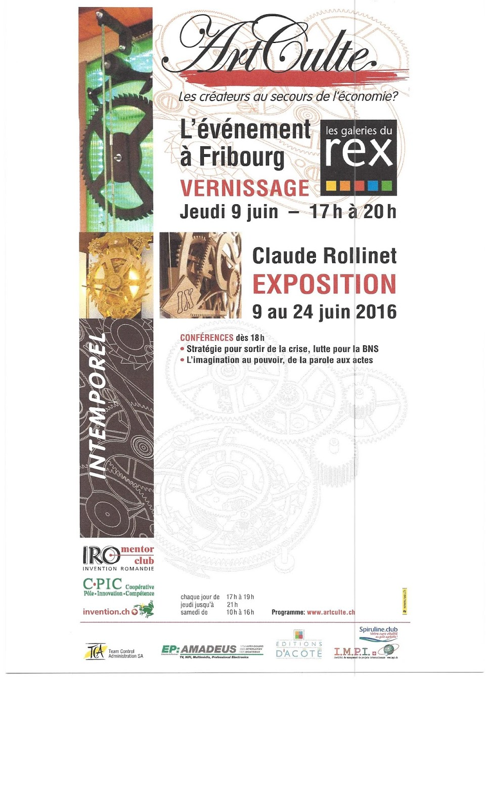 Invitation monnaie-pleine à Fribourg