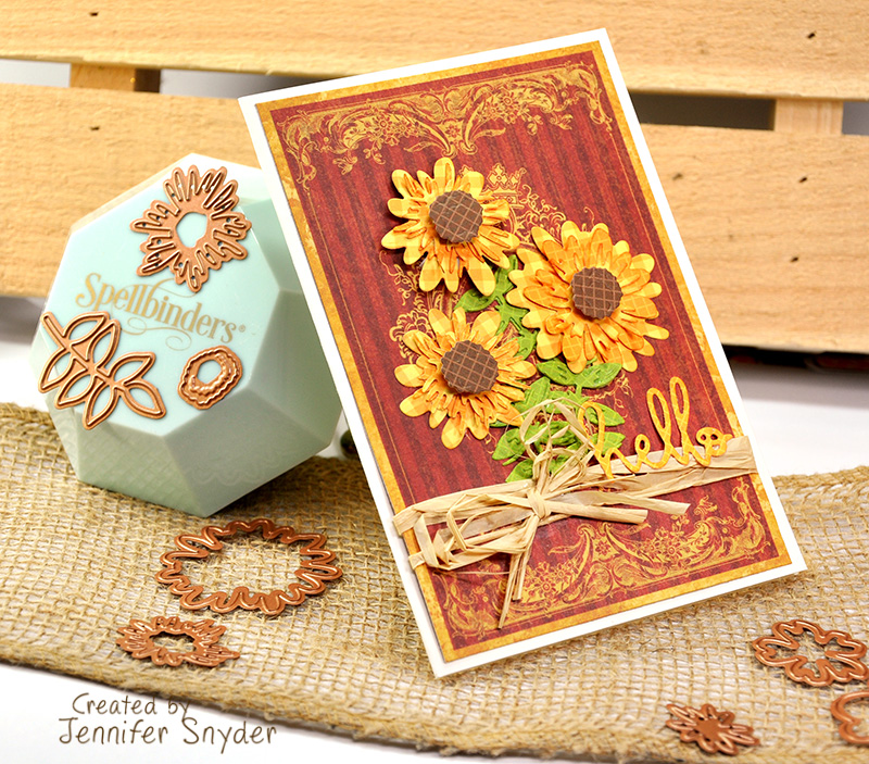 Scrap Escape: Create Beautiful Sunflowers - Spellbinders Small Die