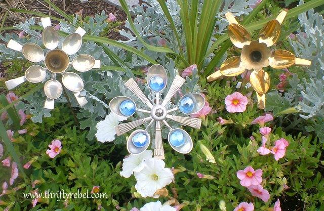 Utencil Garden Flowers