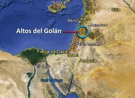 Ubicación de los Altos del Golán