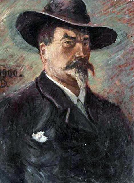 Karl Edvard Diriks, Self Portrait, Portraits of Painters, Edvard Diriks, Fine arts, Portraits of painters blog, Paintings of Karl Edvard Diriks, Painter Karl Edvard Diriks