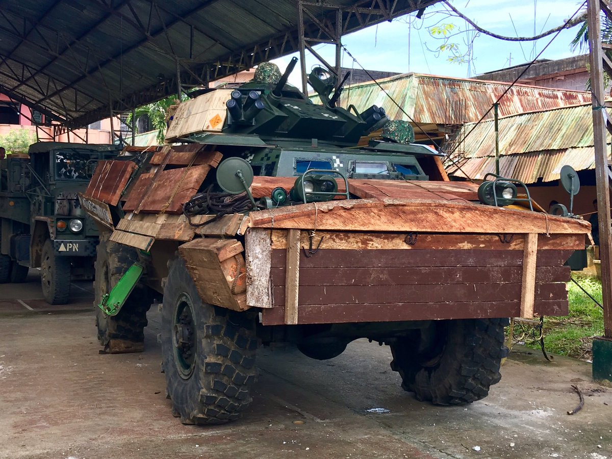 7th Rangers Philippines Army Adds Wooden Armour To Its Cadillac