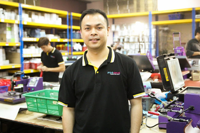 Vincent Tong, Managing Director of Printcious