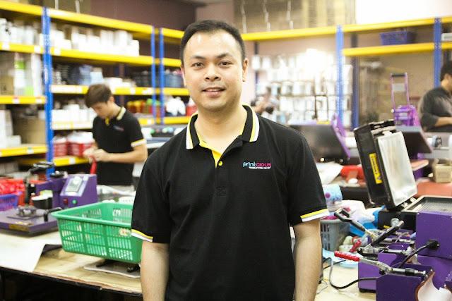 Vincent Tong, Managing Director of Printcious