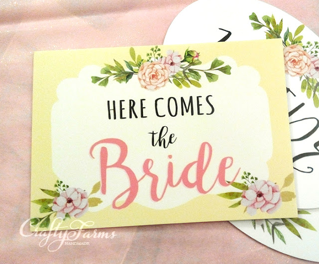 Wedding Signages - Here Comes the Bride